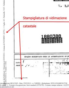 Dimostrazione della certificazione delle planimetrie catastali