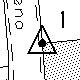 Triangolo con in mezzo un punto nelle mappe catastali